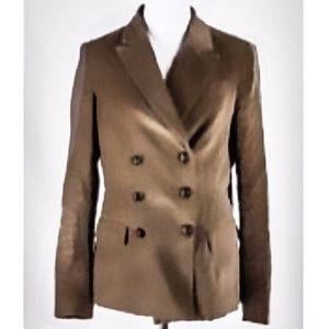 Boden Jackets & Coats - Boden Double Breasted Velour Tan Blazer